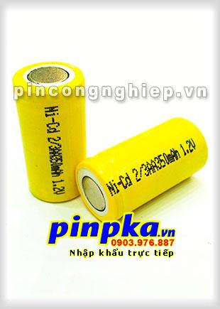 Pin Sạc Công Nghiệp-Pin Cell 1,2v NiCD 2/3AA 350mAh
